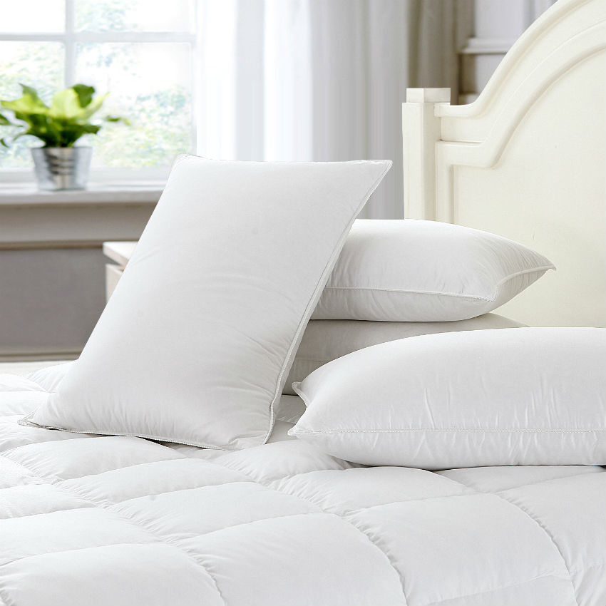 Peter Khanun Quality White Duck Feather Pillow Neck Health Care Sleeping Pillows 100 Fine Cotton Allow