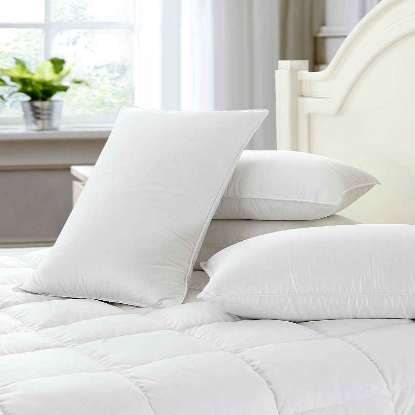 Peter Khanun Quality White Duck Feather Pillow Neck Health Care Sleeping Pillows 100% Fine Cotton Allow Feather To Breathe 011