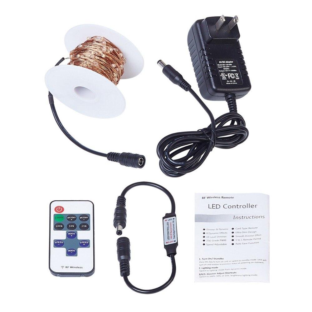 20M / 66Ft 200 diod LED Zdalne przyciemnianie Led String Fairy Lights - Oświetlenie wakacje - Zdjęcie 2