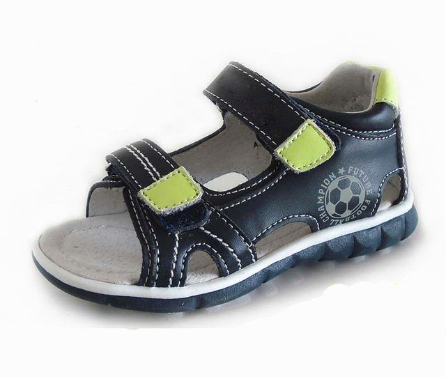 8c3f506e8d Super quality 1pair Genuine Leather Orthopedic Children Sandals Summer  Beach Shoes boy Kids Sandals+inner