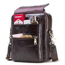 цена на New Luxury Cow Genuine Leather Messenger Bags Men Travel Business Crossbody Shoulder Bag For Man Sacoche Homme Bolsa Masculina