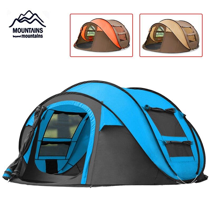 Tente de Camping familiale instantanée pour 3 personnes avec sac de transport pour Camping en plein air randonnée pêche voyage parc de plage 290x20