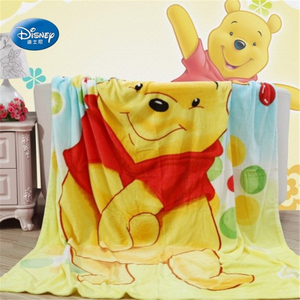 Image 2 - Disney Cartoon Winnie Mickey Mouse Stitch Soft Flannel Blanket Throw for Baby Girls Boys on Bed Sofa Couch 150X200CM Kids Gift