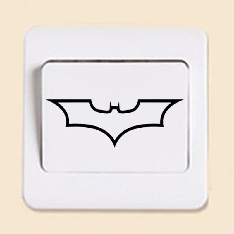 Batman Logo Dark Knight Fashion Switch Sticker Removable Home Decoration Wall Sticker 2WS0254