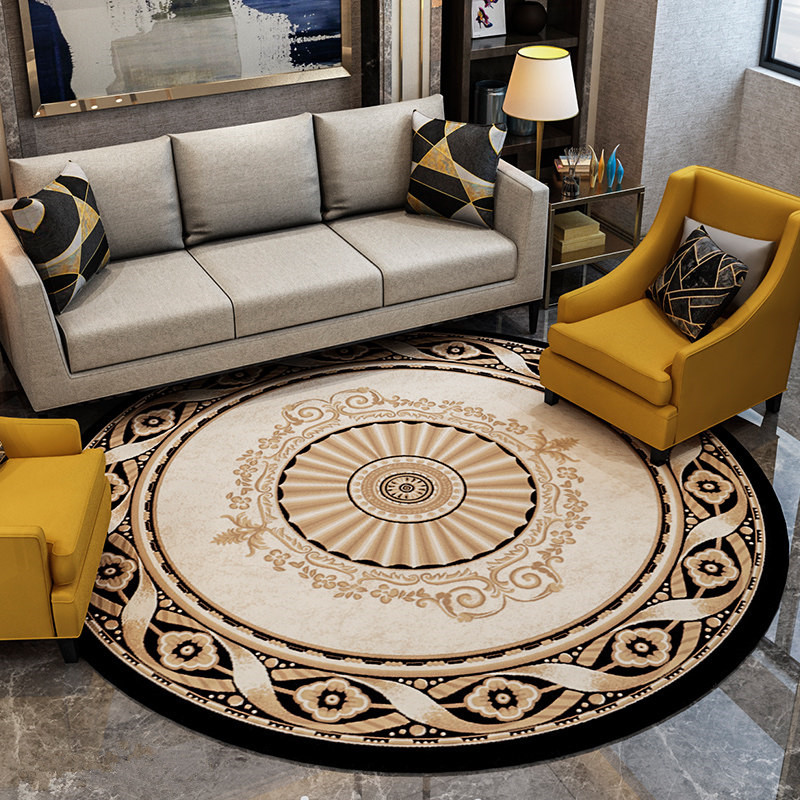 240CM Big Round Carpet Europe Fashion Bedroom Carpet Sofa Coffee Table Round Rug Soft Study Room Rugs Cloakroom Thick Floor Mat