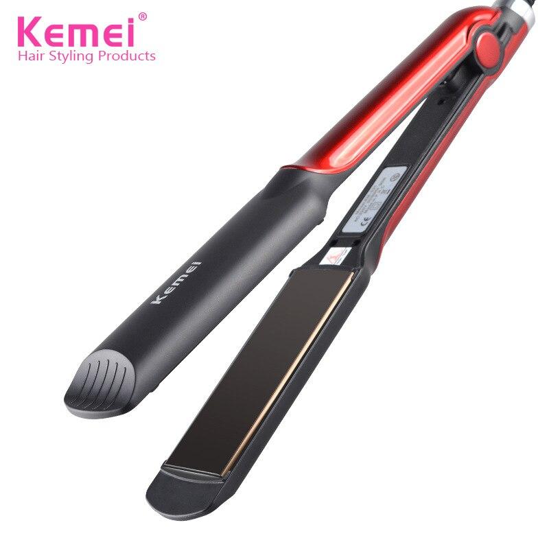 KM531 professionnel défriser les cheveux en céramique vapeur cheveux plat fer couture défriser les cheveux fer bigoudi vapeur outil de coiffure