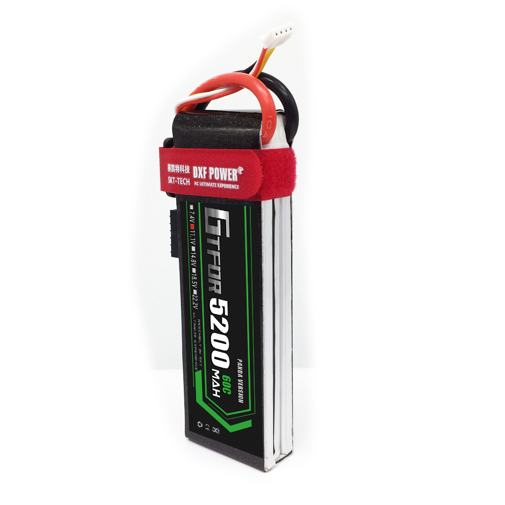 GTFDR Battery 11.1V <font><b>5200mAh</b></font> 50C-100C <font><b>2S</b></font> RC <font><b>Lipo</b></font> Battery for RC Airplane Car Boat Helicopter RC High Rate Cell Toys Batteria image