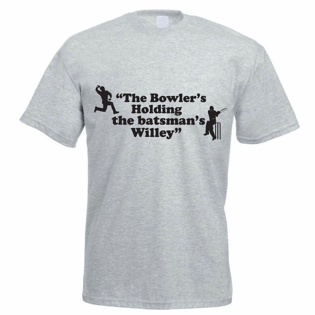 92572fa0a Cheap Graphic Tee Shirts The Bowler'S Holding The Batsman'S Willey -Funny  Cricketing Funny Short Sleeve T Shirt For Men