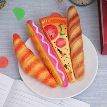 Funny Pizza Ball Pen Creative Simulation Bread BallPoint Pens Stationery Fridge Magnet Material Office School Writing Supplies pizza slice ball pens 2 pack