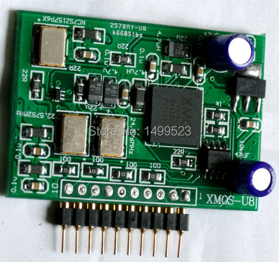 1pcs XMOS 10 pin daughter usb card supports DSD II2S output цена