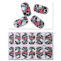 1 Sheet Skull Nail Wraps Full Stickers Waterproof Eco-friendly Manicure Nail Art Stickers Y5215 Decorations