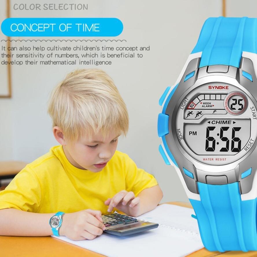 Uhren WunderschöNen Synoke Multifunktions 50 Mt Wasserdichte Uhr Led Digital Double Action Uhr Kol Saati Horloge Kinderen Uhr Kinder