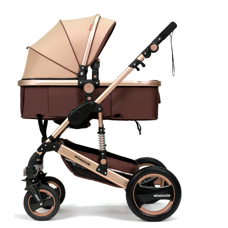 High Landscape Fold Baby stroller, 2 in 1 baby carriage with rubber wheel, good shock absorption baby pram&aluminum alloy frame blazer georgede blazer