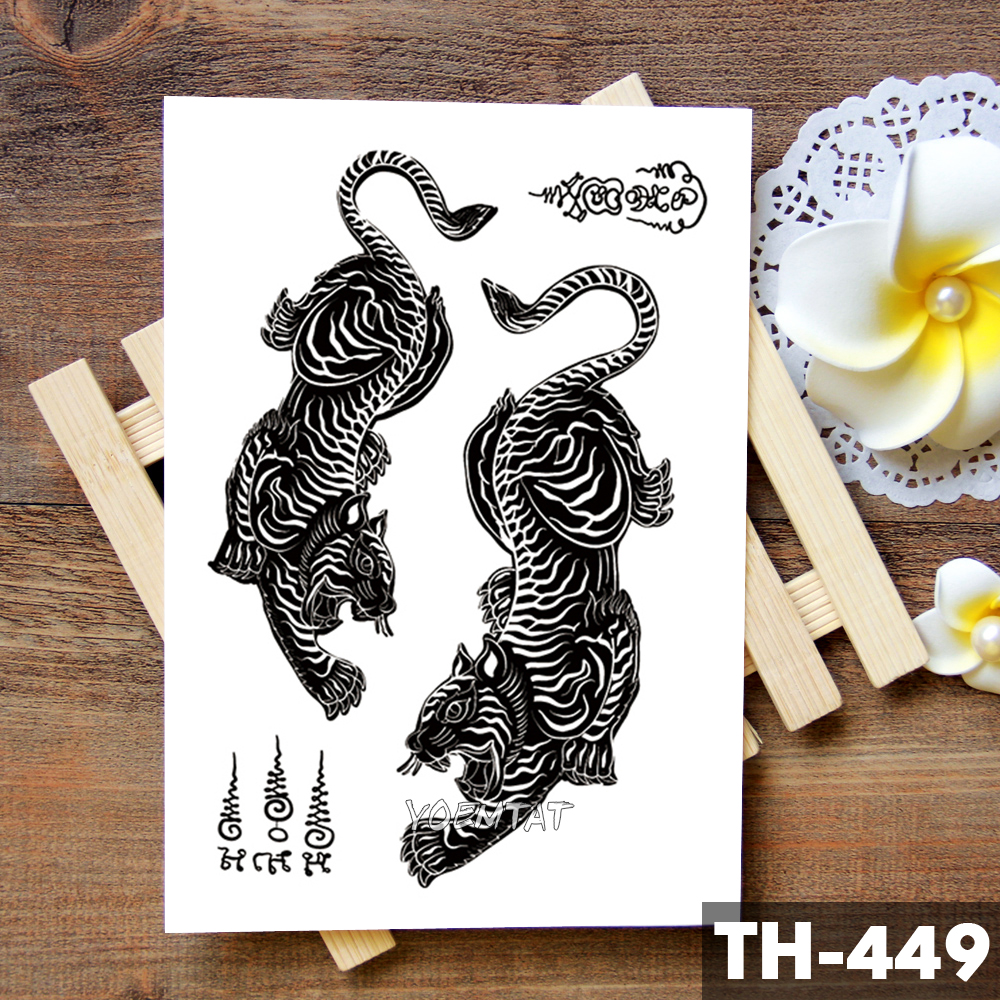aba557f26c8a9 Thailand Thorn Tiger Totem Waterproof Temporary Tattoo Sticker Courage  Authority Maori Flash Tattoos Body Art Arm Fake Tatoo Men-in Temporary  Tattoos from ...