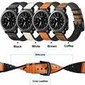 Спортивный ремешок для часов Huami Amazfit 1  2  из натуральной кожи с резиновыми ремешками для часов Samsung Gear S3 Bracleelt для Huawei Watch 2P