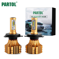 Partol G9 CREE XHP50 Chips H11 9005 9006 H13 H4 H7 LED Bulb Headlights 80W 9600LM