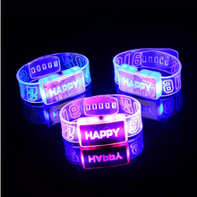 12PCS/LOT LED bracelets&bangles Light up toys 2015 Bracelet flashing wrist band for christmas Festival event party supplies