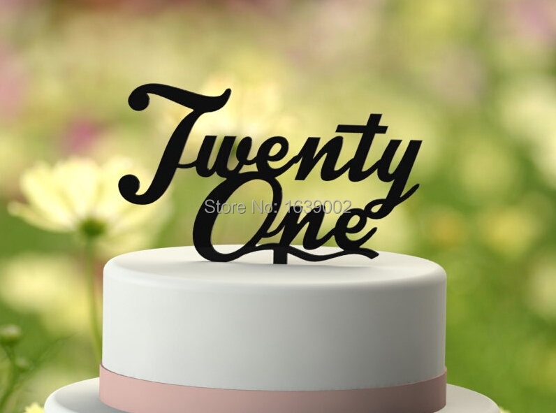 Just Arrival Twenty One 21st Birthday Cake Topper Acrylic Wholesale