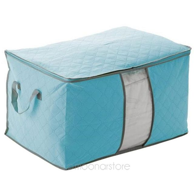 High quality Foldable Clothing Organizer Clothing Storage Box for Blanket Pillow Underbed Bedding Amazing 3 Colors