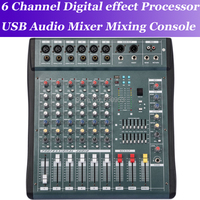 MiCWL 6 Channel High Quality Audio Music USB Mixer Mixing Console Pro Digital effect processor Console de mistura de mixagem de