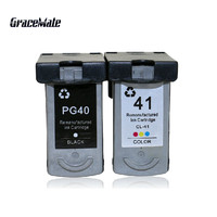 2 pcs ink cartridge PG 40 CL 41 replacement for CANON PG40+CL41 for Canon PIXMA IP2500 IP2600 MX300 MX310 MP160 MP140 MP150