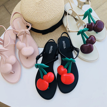 Melissa Brand Cherry 2019 New Women Flat Sandals Shoes For Jelly Female Adulto Mulher