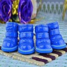 4 Pcs/Sets Pets Winter Snow Dog Boots Casual Dog Shoes Pet S