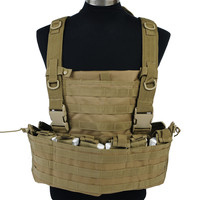 Airsoft Military Tactical Molle Vest With Hydration Pouch High Quality Chest Protective Plate Men Outdoor