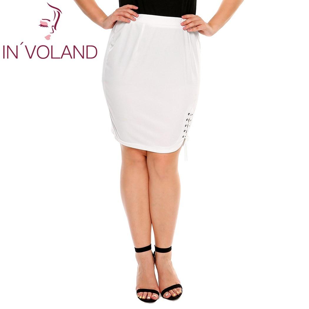 IN'VOLAND női rövid szoknya nyár plusz méretű szilárd krisztus - Női ruházat - Fénykép 2