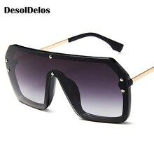 Fashion Women Oversized Sunglasses 2019 NEW Oval Vintage Acetate Frame Men Sun Glasses Goggles UV400