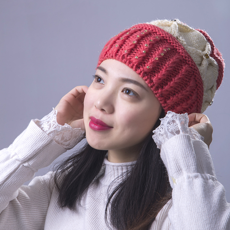 d8219099988 Female Casual Winter Hat Cotton Women s Hats Mother Gift Skullies Beanies  Multicolor Pink Red White Yellow Gray