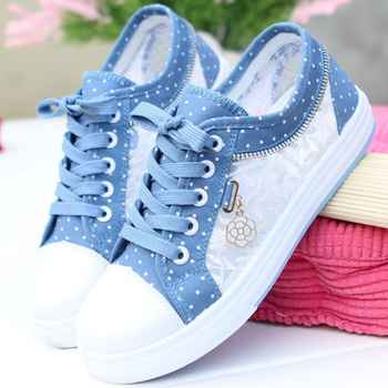 Women Vulcanized Shoes Women Sneakers 2019 Ladies Casual Shoes Breathable Ladies Walking Flat Student zapatos de mujer - DISCOUNT ITEM  46% OFF All Category