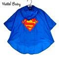 Качественные, комфортные и Новый Дети мальчики плащ для детей супермен Бэтмен Rainsuit Плащи Водонепроницаемый супергероя