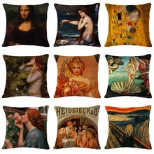 2019 New Cushion Cover Square Pillwcase 18 Mona Lisa Smile World Famous Paint Art Renaissance Oil Painting Pillow forsofa