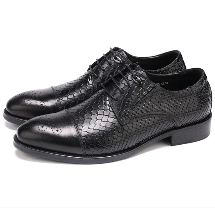 Large size EUR45 serpentine black oxfords mens business shoes genuine leather dress shoes mens wedding shoes top quality crocodile grain black oxfords mens dress shoes genuine leather business shoes mens formal wedding shoes
