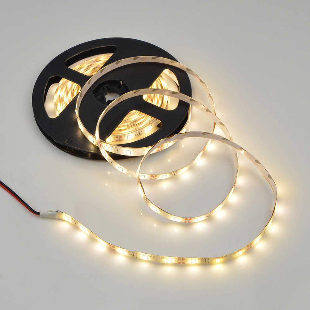 5M hoặc 10 mét/túi 2835 SMD Hơn Sáng Hơn 3528 5050 SMD Dây ĐÈN LED DC 12V 60 đèn LED/M Trang Trí Trong Nhà Băng Trắng Xanh Đỏ