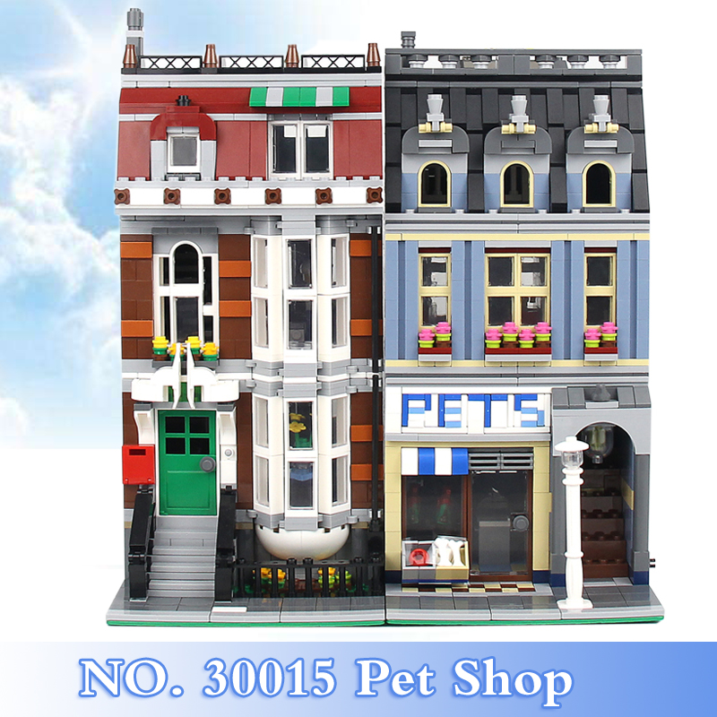 2018 New City Creator Series 2108Pcs Pet Shop Figures Building Blocks Bricks Set Children Toys Model Kits Gift Compatible 10218 lepin 15009 city street pet shop model building kid blocks bricks assembling toys compatible 10218 educational toy funny gift