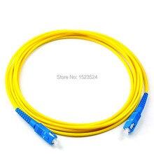 10 pièces SC UPC à SC UPC Simplex 2.0mm 3.0mm PVC monomode câble de raccordement de fibers cavalier cordon de raccordement de fibers fibra optica FTTH