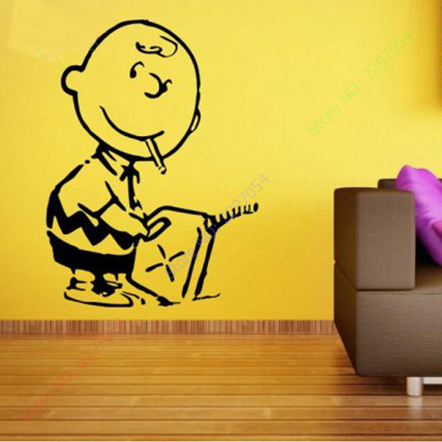 Custom made banksy charlie brown firestarter vinyl wall sticker banyak warna baru stiker dinding