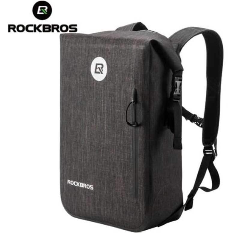ROCKBROS Waterproof Bike Bag Large Capacity 24L Bicycle Bag Outdoor Cycling Travel Hiking Climbing Backpack|Bicycle Bags & Panniers| |  - title=