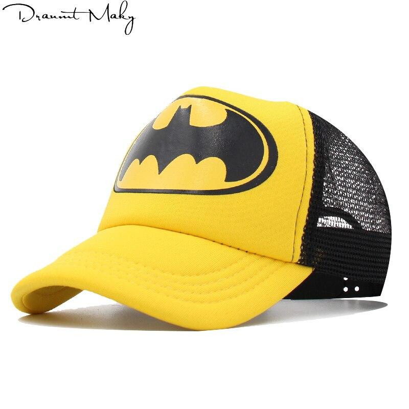 Allkpoper Baseball Caps For Kids Superman Batman Children Snapback Caps Boys Hip Hop Hat Mesh Summer Hats Cool Cap Boys Girls Accessories