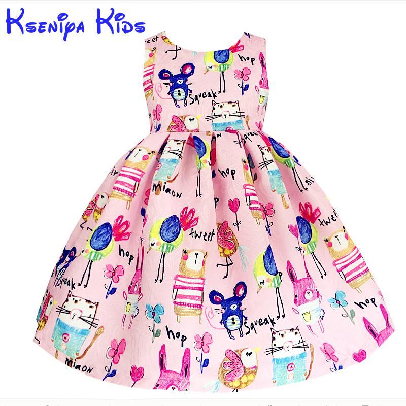 Sale Brand Girl Dress Winter 2016 Children's Dresses Cotton Satin Thicken Warm Girls Dresses European Style Kids Clothes Zk0822