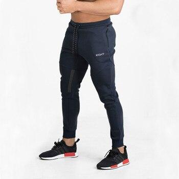 Hohe Qualität Marke Hosen Fitness Beiläufige Elastische Hosen Bodybuilding Kleidung Casual Marineblau Militär Jogginghose Jogger Hosen