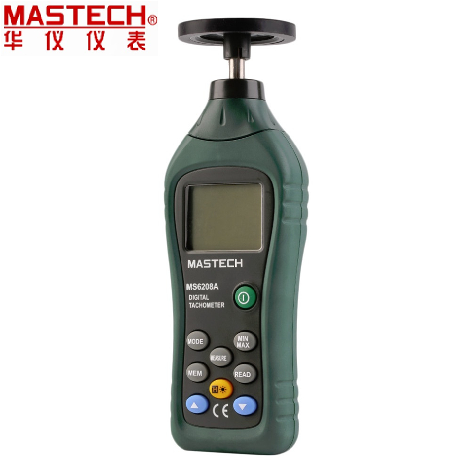 2017 MASTECH MS6208A LCD Display Contact-type Digital Tachometer RPM Meter with Backlit and Rotation Speed 50-19999RPM Data Hold waterproof bluetooth v3 0 bathroom speaker w microphone suction cup camouflage green