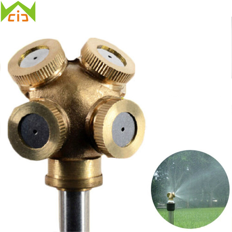 WCIC Micro Mist Nozzles Water Spray Nozzle Garden Sprinkler Nozzle Spray Adjustable Brass Irrigation Fitting aspersor de jardim