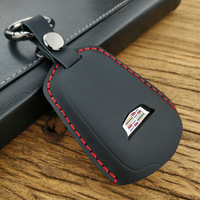 Handmade suede leather for the Cadillac all in one keychain key case Y 197