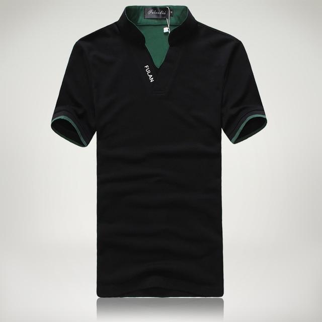 Плюс размер мужчины polo рубашки с коротким рукавом вышитые буквы твердые хлопок высокого качества slim fit мужские рубашки Camisa Polo Masculina