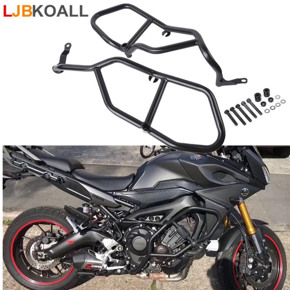 Black Motorcycle Engine Protective Guard Crash Bar Frame Protector For Yamaha MT09 MT 09 MT-09 Tracer FJ09 FJ-09 2015 2016 2017 crash bar mt 09