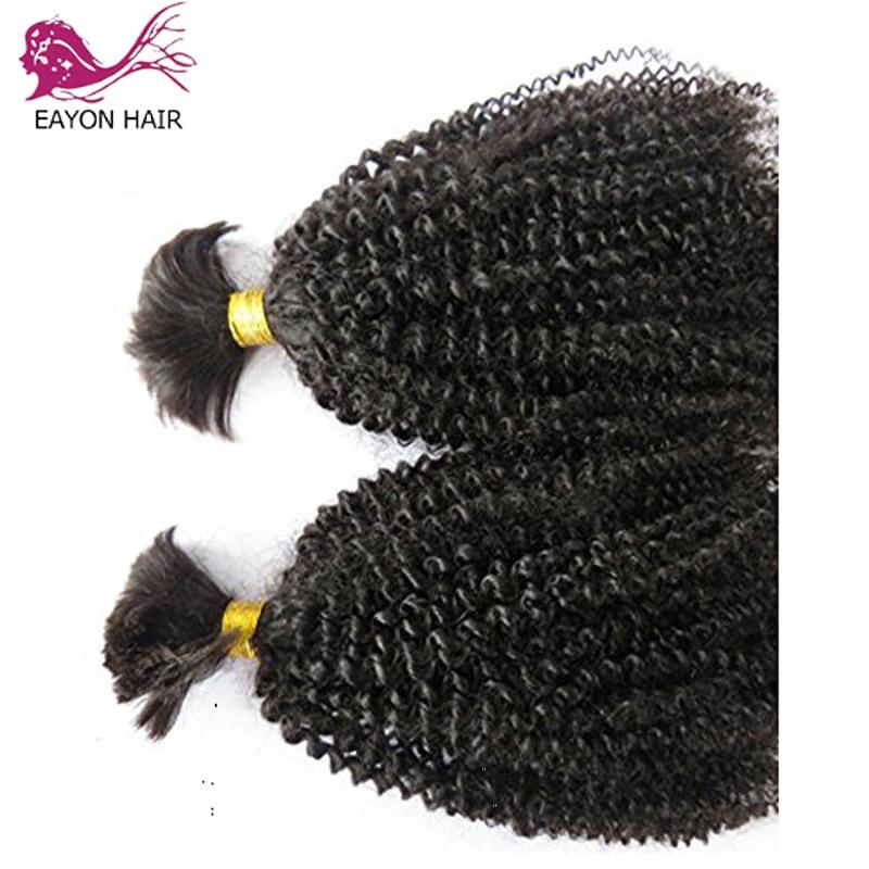 EAYON Malaysian Curly Hair 1/3Bundles Braiding Bulk No Weft Afro Kinky Human Bundles Remy Extensions