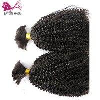 EAYON Malaysian Curly Hair 1/3Bundles Braiding Hair Bulk No Weft Afro Kinky Curly Human Hair Bundles Remy Hair Extensions